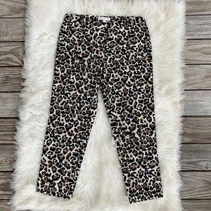 LOFT Marisa Modern Stretch Ankle Pants Leopard